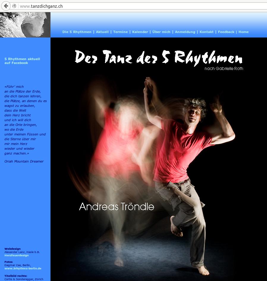 Website tanzdichganz.ch bis Februar 2016